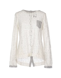 Franklin And Marshall Blouses Ivory