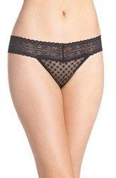 Free People Women's Lace Trim Thong