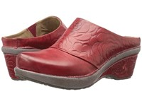 Spring Step Bande Red Women's Clog Mule Shoes