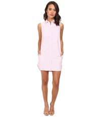 Gabriella Rocha Basic Sleeveless Button Down Pink Women's Clothing