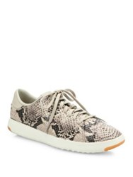 Cole Haan Grand Pro Tennis Snake Embossed Leather Sneakers Multi