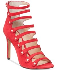 Vince Camuto Kanastas Strappy Gladiator Sandals Women's Shoes Pop Red