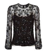 Needle And Thread Embellished Butterfly Top Female Black