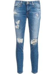 Ag Jeans Distressed Skinny Blue