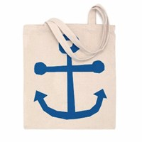 Posh Totty Designs Screen Printed Anchor Tote Bag
