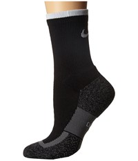Nike Elite Tennis Crew Black White White Crew Cut Socks Shoes