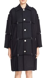 Women's Julien David Rivet Detail Paneled Wool Coat