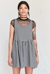 Urban Renewal Recycled Checkered Babydoll Dress Black