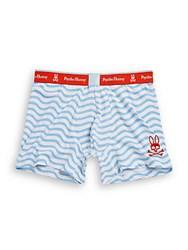 Psycho Bunny Lounge Striped Boxer Briefs Blue Bell