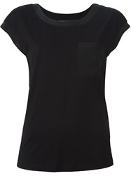 Twin Set Chest Pocket T Shirt Black