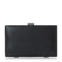 Head Over Heels Benata Metallic Box Clutch Bag Black