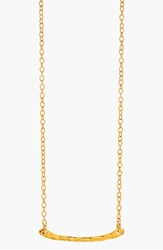 Gorjana 'Taner' Hammered Bar Pendant Necklace Gold
