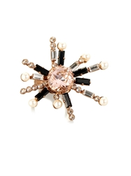 Vickisarge Cosmos Crystal Star Gold Plated Ring