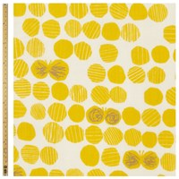 Unbranded Abstract Circle Print Fabric Yellow