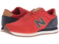 New Balance Mz501 Red Navy Suede Synthetic Men's Shoes