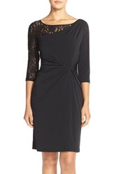 Women's Ellen Tracy Sequin Lace And Jersey Sheath Dress