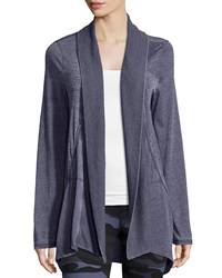 Marc Ny Performance Slub Jersey Open Front Cardigan Navy