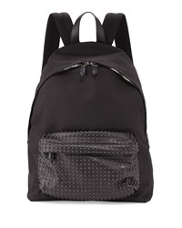 Givenchy Studded Front Canvas Backpack Black