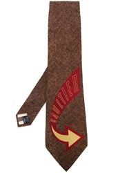 Jean Paul Gaultier Vintage Tie Brown