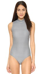 Cover Black Gingham Swimsuit