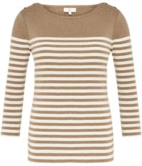 Cc Fawn Stripe Jersey Top Multi Coloured
