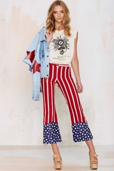 Vintage Born In The Usa Cropped Flare Jeans