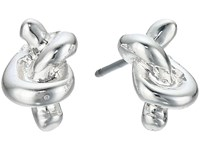 Lauren Ralph Lauren Smooth Operator Metal Knot Stud Earrings Silver Earring
