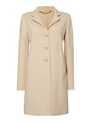 Marella Improbi Double Face Wool Button Up Coat Beige