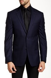 Ike Behar Pandora Two Button Notch Lapel Wool Sportcoat Blue