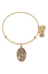 Women's Alex And Ani 'I Love You Grandmother' Expandable Wire Bangle Gold