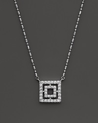 Bloomingdale's Diamond Square Pendant Necklace In 14K White Gold .35 Ct. T.W.