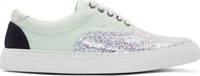 Mother Of Pearl Mint Glittered Nixon Sneakers