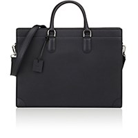 Barneys New York Men's Riviera Briefcase Black Blue Black Blue