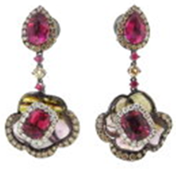 Wendy Yue Tourmaline Earrings Pink