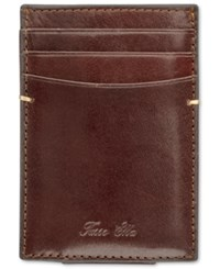 Tasso Elba Men's Invechiato Front Pocket Wallet Only At Macy's Tan