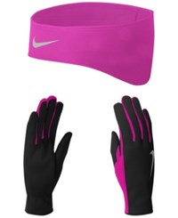 Nike Therma Fit Glove Set Black Vivid Pink
