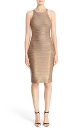 Herve Leger Women's 'Renata' Woodgrain Metallic Foil Bandage Dress
