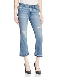Black Orchid Mia Crop Flare Jeans In Free Bird