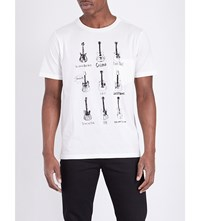 The Soloist Guitar Print Cotton Jersey T Shirt White