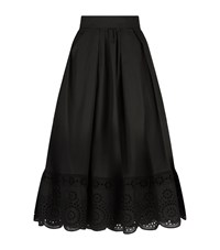 Marc Jacobs Midi Eyelet Skirt Female Black