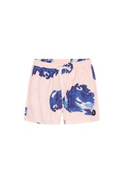 Insted We Smile 'Pettibon' Digital Print Swim Shorts Pink