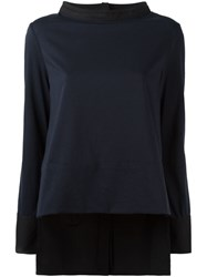 Marni Funnel Neck Blouse Blue
