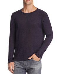 Rails Ryan Heathered Linen Long Sleeve Tee Navy