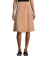 Adam By Adam Lippes Adam Lippes Suede A Line Knee Length Skirt Brown Size 10