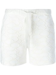 Moncler Embroidered Ovals Shorts White