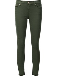 7 For All Mankind Cropped Skinny Jeans Green