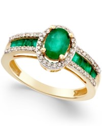 Macy's Sapphire 1 3 4 Ct. T.W. And Diamond 1 4 Ct. T.W. Ring In 14K Gold Also In Emerald And Ruby Emerald And Yellow Gold
