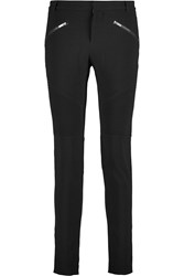 Haute Hippie Pintucked Crepe Skinny Pants Black