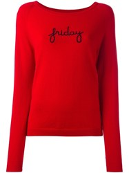 Chinti And Parker 'Friday' Raglan Sweater Red