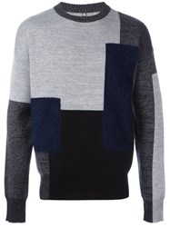 Oamc Patchwork Sweater Grey